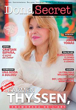 Revista Dona Secret 9 - Decembre 2015 - Carmen Thyssen