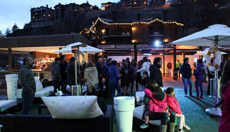 Festa après ski möet & chandon a Anyòs Park