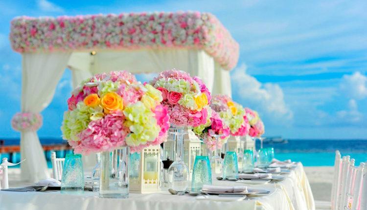 decoració de taula de noces