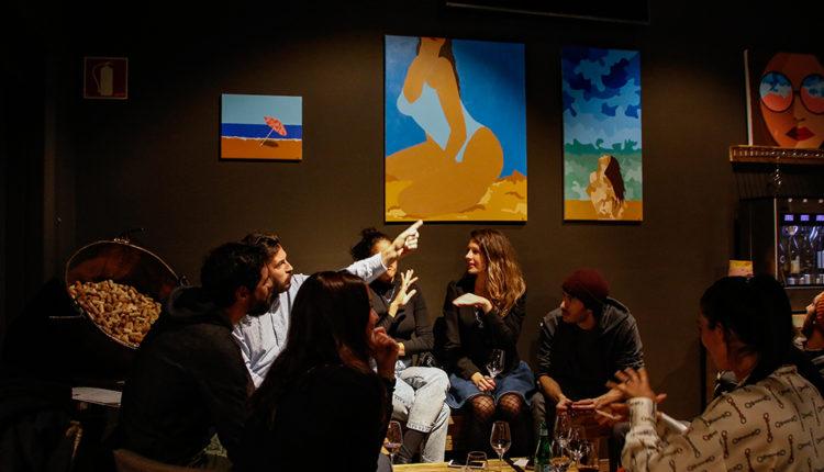 Exposició Sarah Bagot al 12,5º wine bar