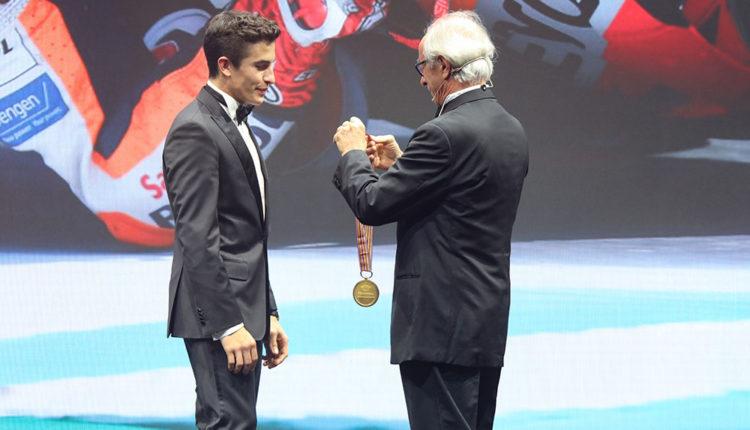 Premiació a Marc Màrquez FIM awards 2018 andorra
