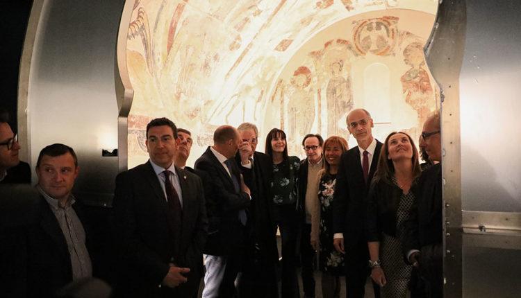 Inauguració Espai Columba amb autoritats andorranes