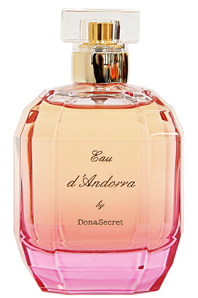 Botella de perfum Eau d'Andorra by Dona Secret