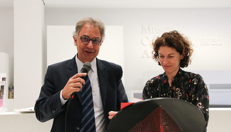 Lluís álvarez president Ibo-Àfrica i maria ubach