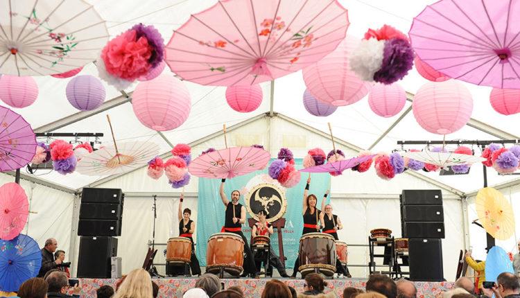 Exhibició de Taiko a la Festa de la Primavera Andorra la Vella