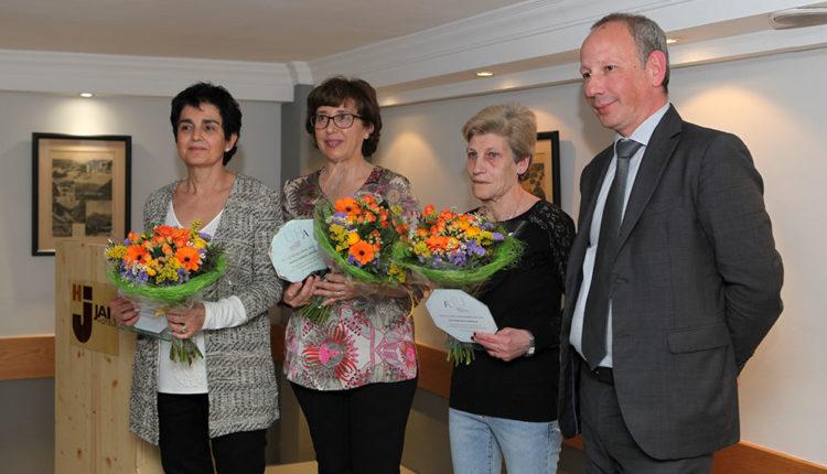 Dones homenatjades per la Unió Hotelera d'Andorra
