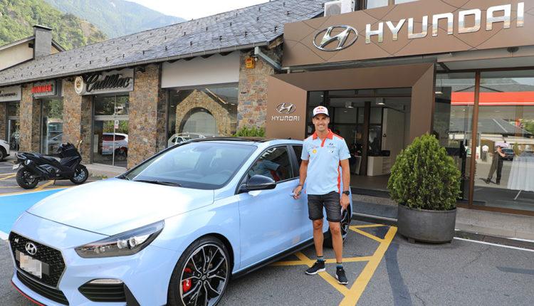 Dani Sordo amb el seu vehicle Hyundai i30 N