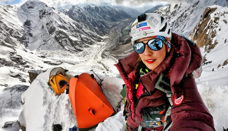 Estefania Troguet a les muntanyes