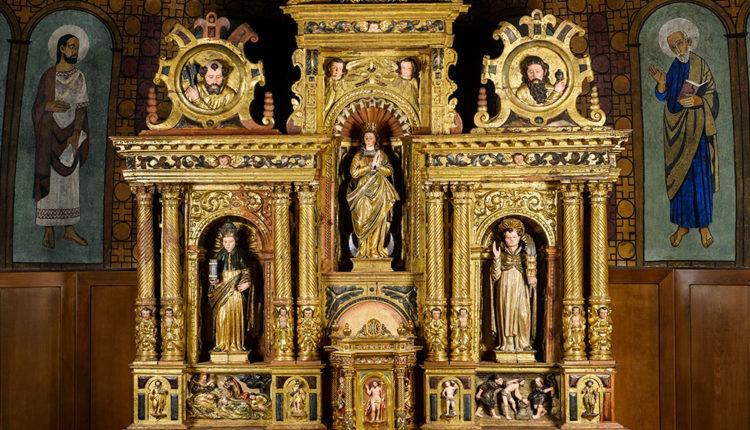 Retaule barroc a l'església Sant Pere Martir