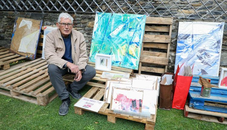 Artista a Ordino Jardins d'Art