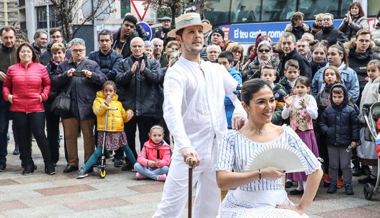 Dansa de l'esbart santa anna als encants de Sant Antoni