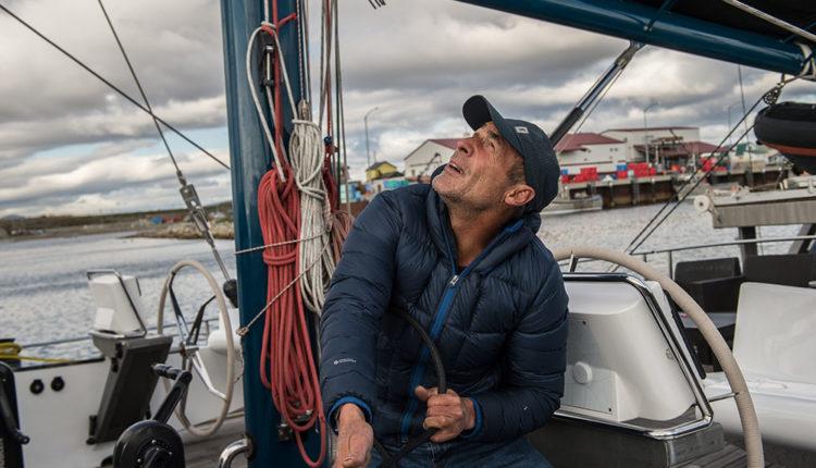 Mike Horn en un veler