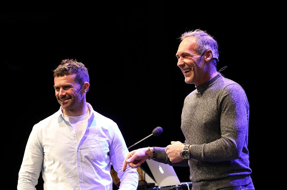 Mike Horn i Cyril Despres a la conferència