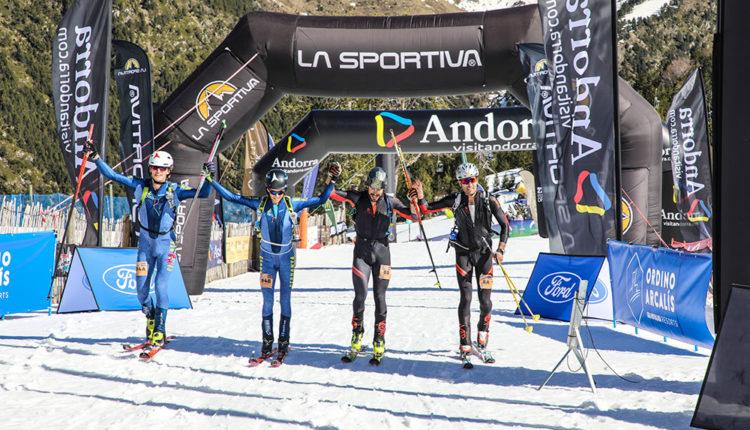 Arribada a la línia de meta de l'Andorra Skimo 2020