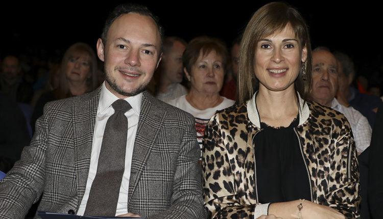 Mònica Lage amb Xavier Espot