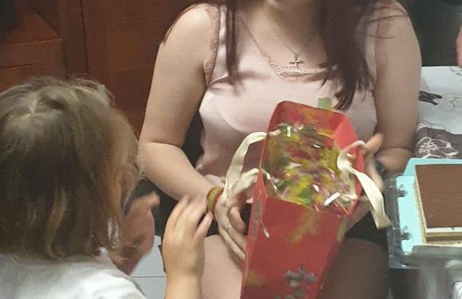 La Berta durant la celebració del seu aniversari