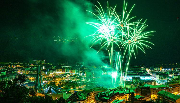 Castell de focs Artificials durant la Festa Major 2020