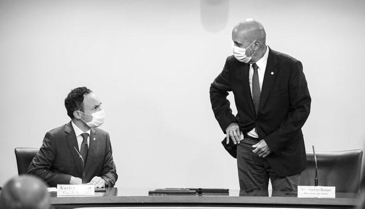 Xavier Espot i Joan Martínez Benazet van anunciar les mesures sanitàries