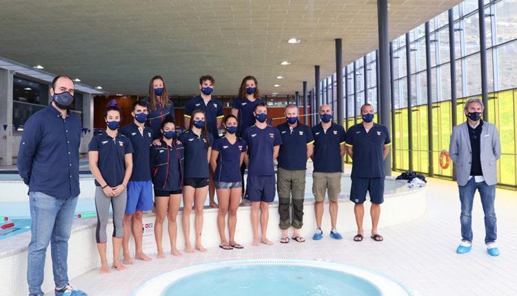 Nadadors espanyols al Pas de la Casa